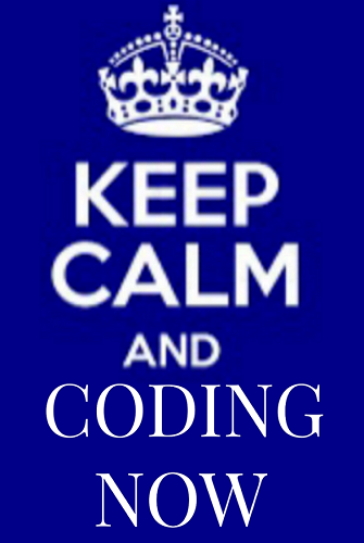 keep calm and coding now Image