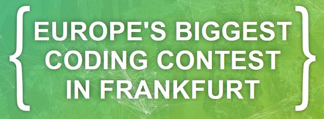 Biggest coding contest in Frankfurt Image