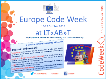 Europe Code Week 2016 at LT«AB»T Image